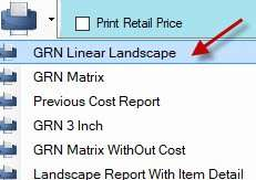selecting landscape linear report in Candela