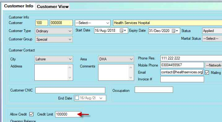 Defining hospital in Candela pharmacy software
